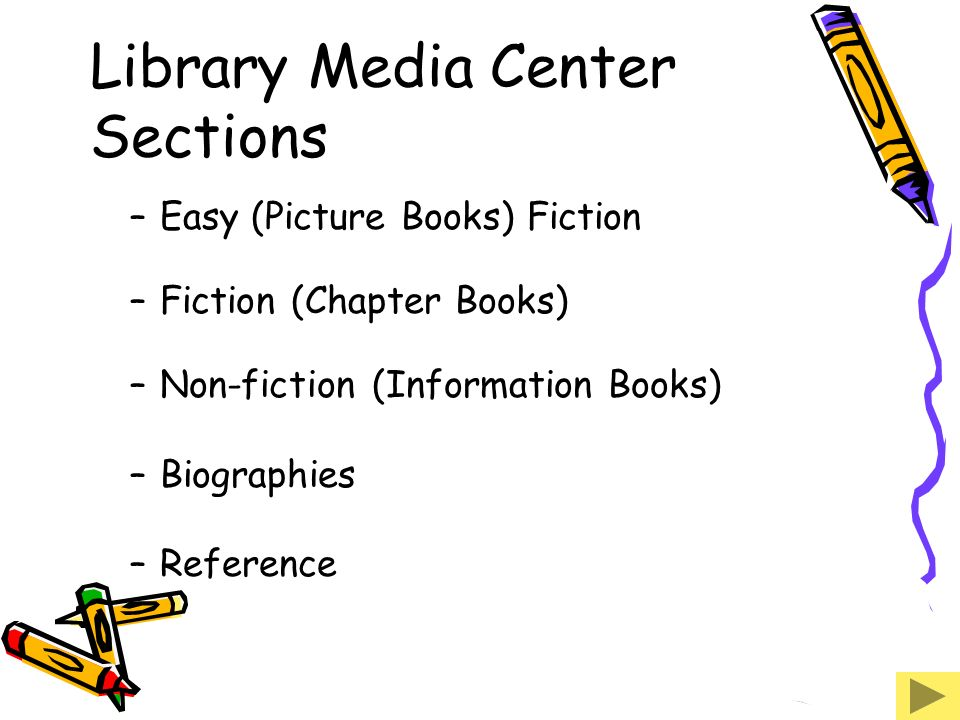 Library Media Center Sections