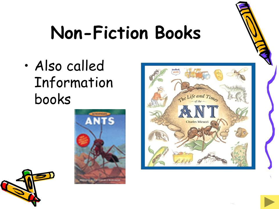 Non-Fiction Books Also called Information books