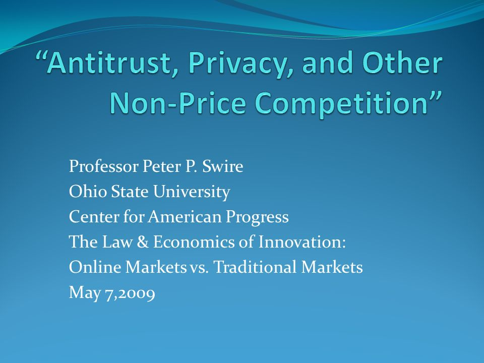 Antitrust, Privacy, and Other Non-Price Competition