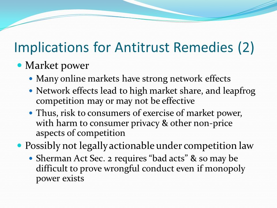Implications for Antitrust Remedies (2)