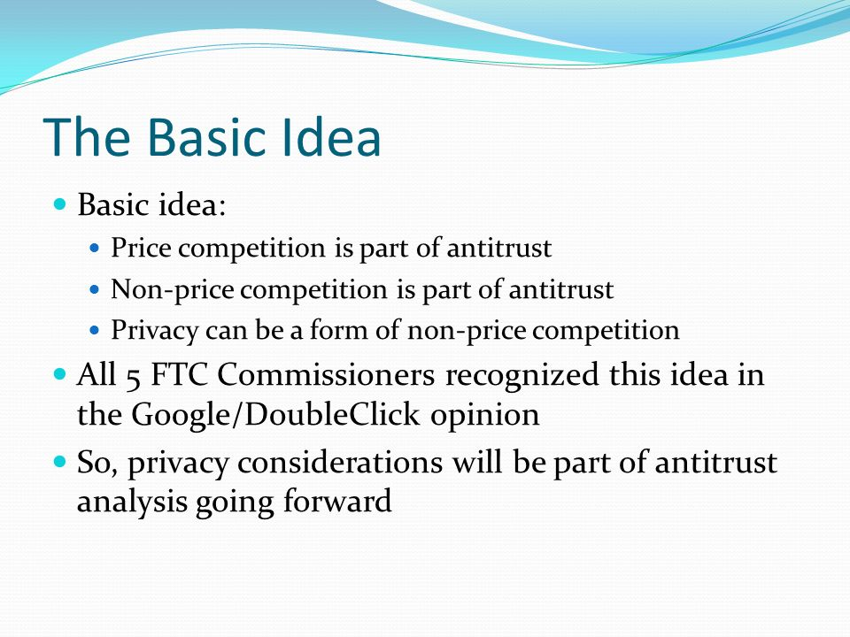 The Basic Idea Basic idea: