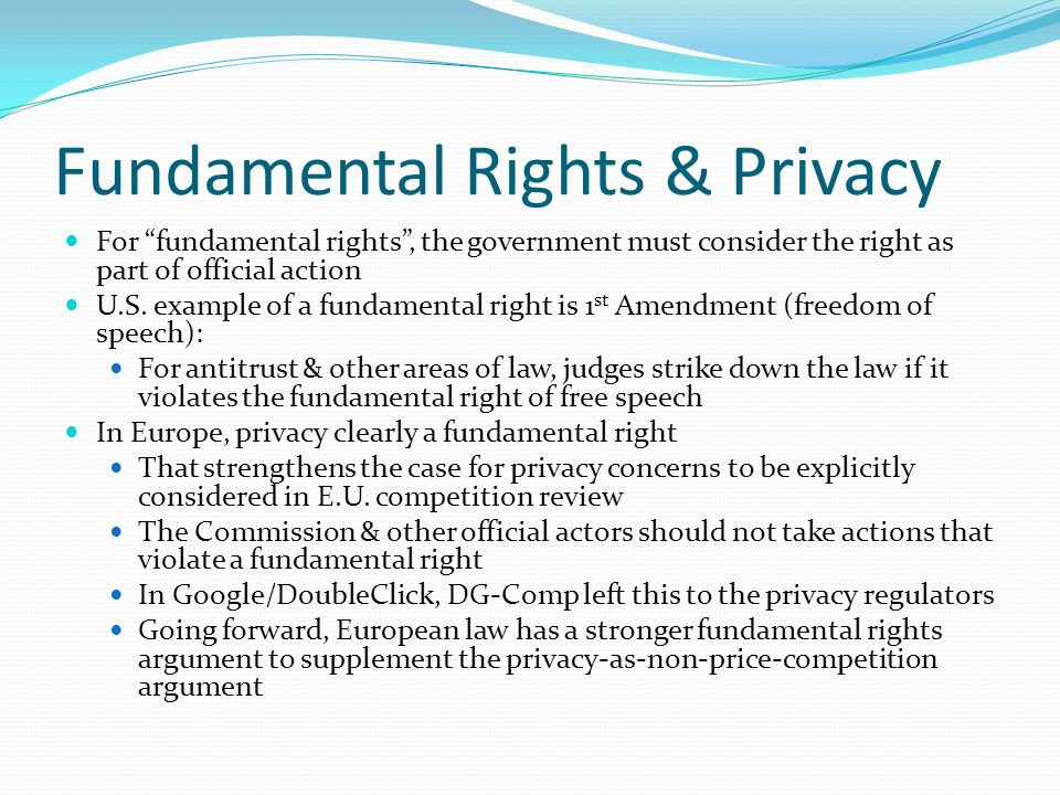 Fundamental Rights & Privacy