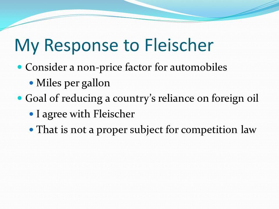 My Response to Fleischer