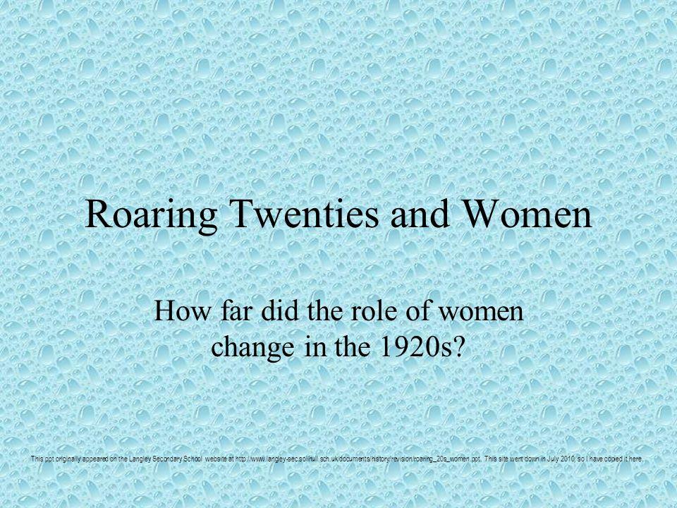 Roaring Twenties and Women