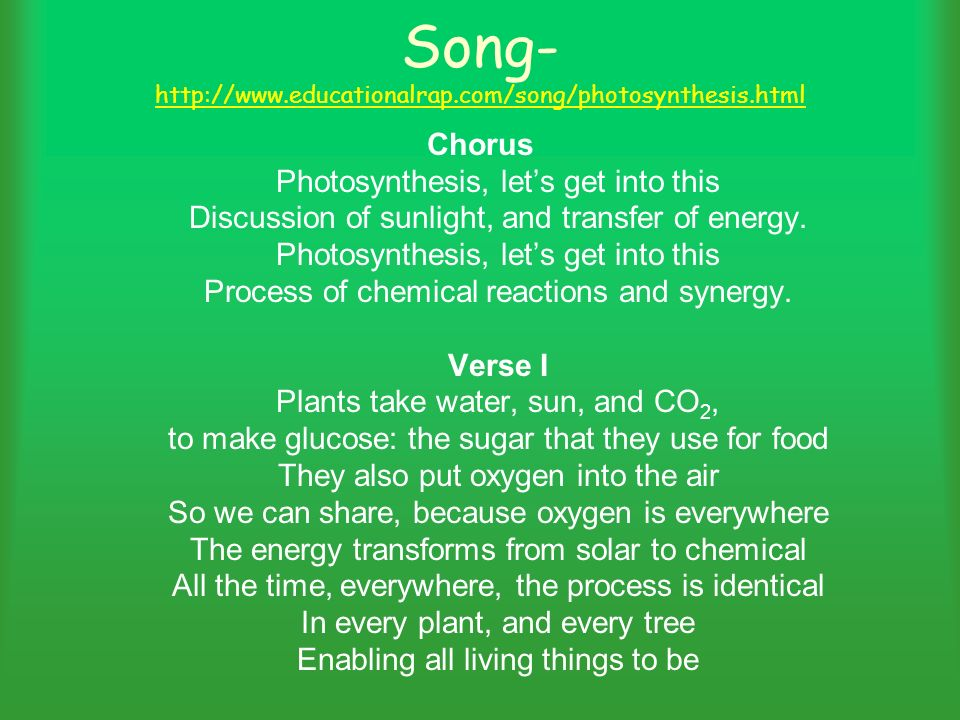 photosynthesis rap Stream photosynthesis rap by heathcottengim from desktop or your mobile device.