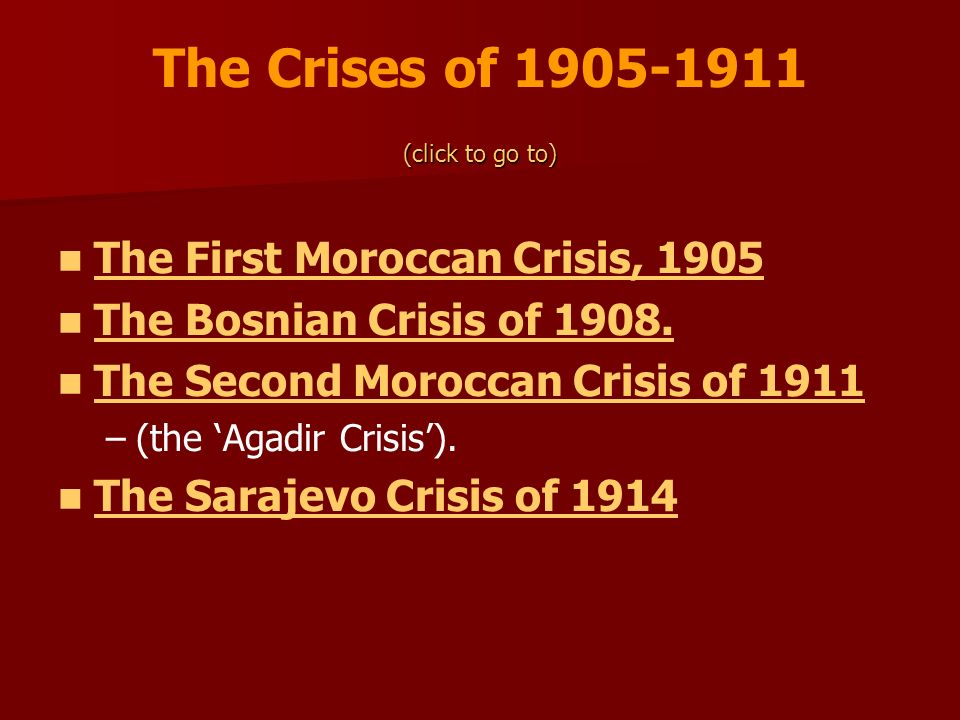 The Crises of The First Moroccan Crisis, 1905