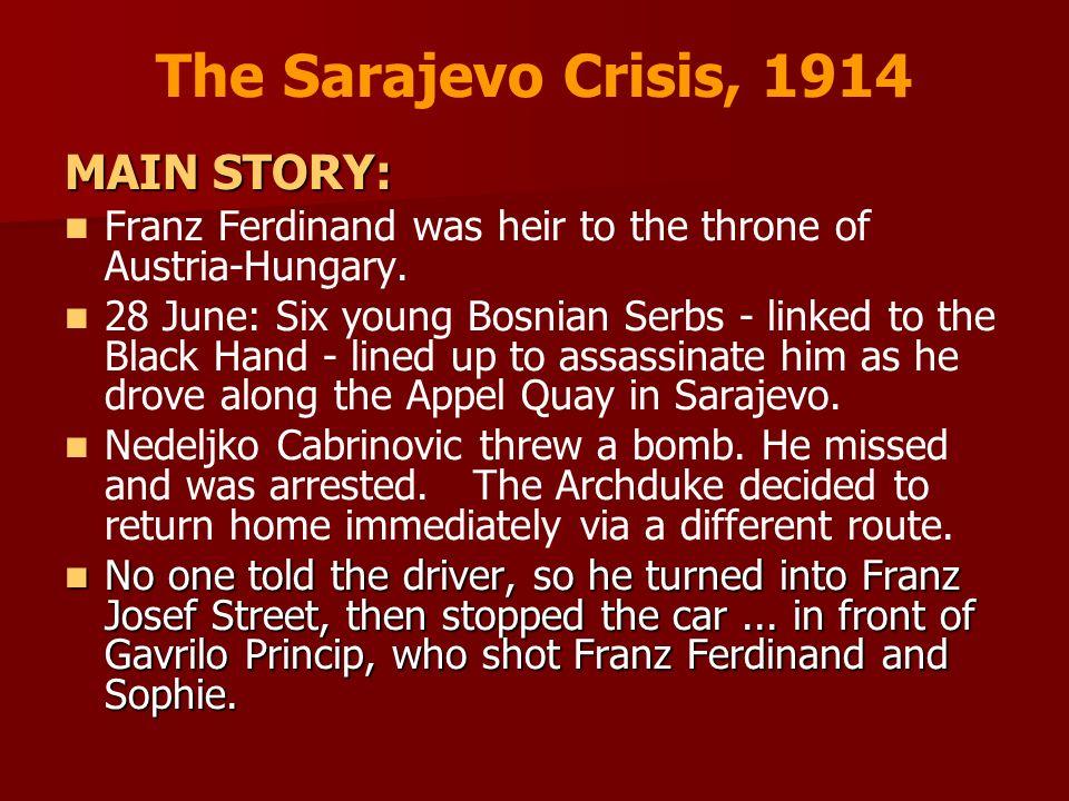 The Sarajevo Crisis, 1914 MAIN STORY: