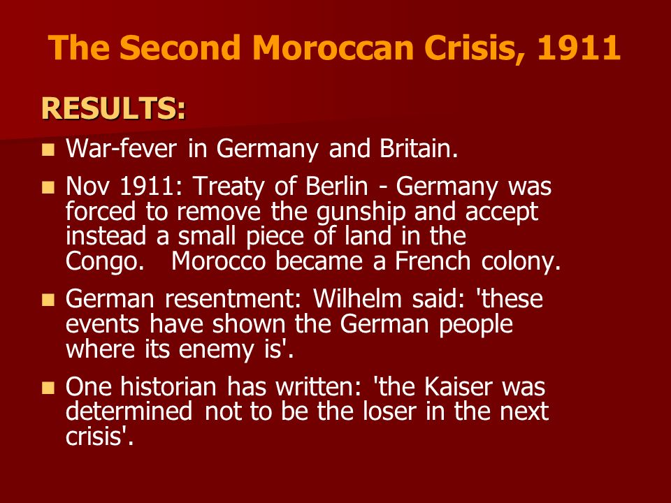 The Second Moroccan Crisis, 1911