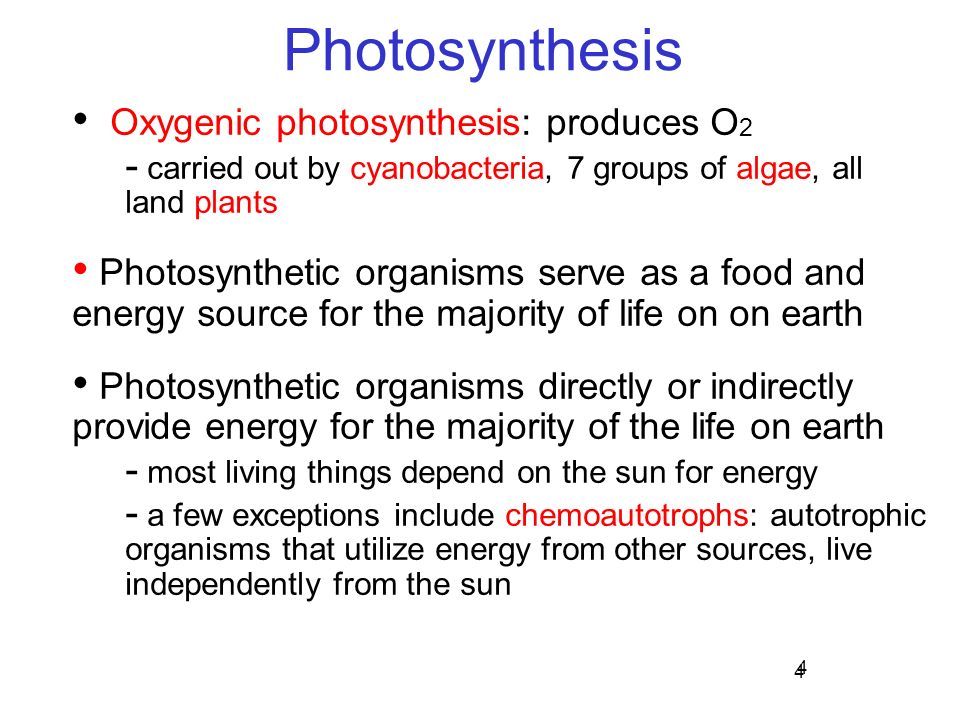 oxygenic photosynthesis Photosynthesis in proteobacteria anoxygenic phototrophs bacteriochlorophylls a and b reaction center p870 (5 carbon) and co2 (or oxygen) product is 2 ea 3-phosphoglycerate (3 carbon) must regenerate substrate, but without 1-carbon chemistry can also fix carbon by reverse tca.