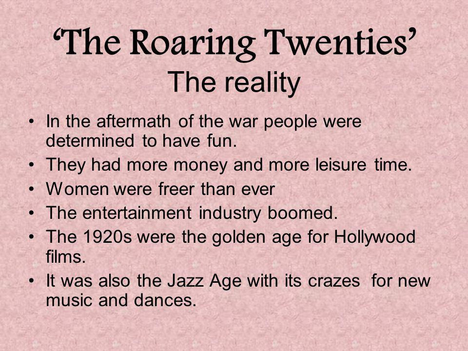 'The Roaring Twenties' The reality