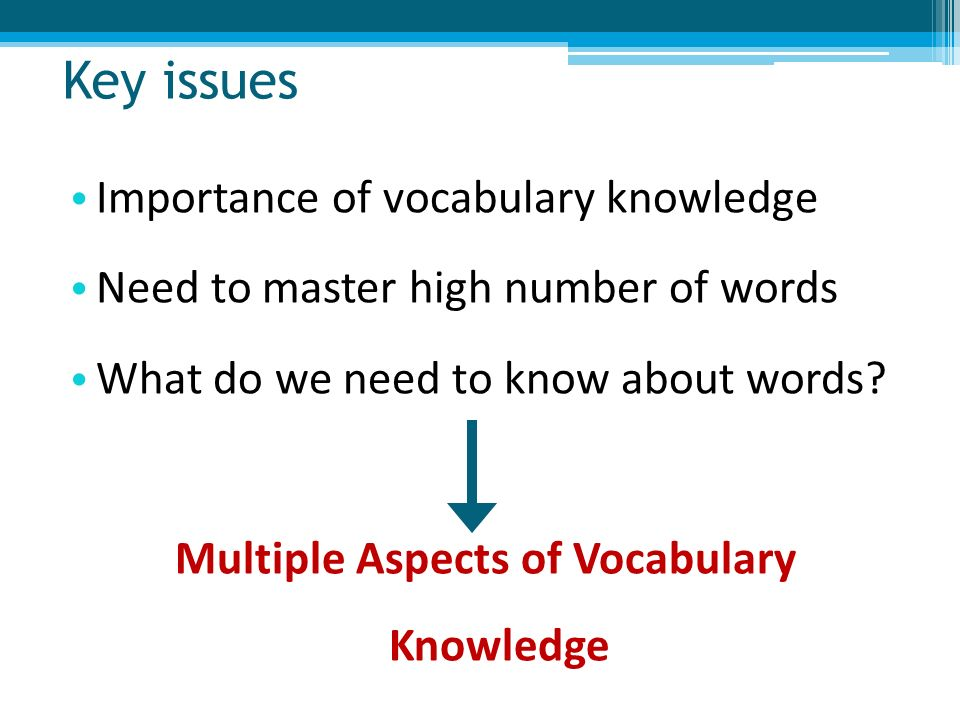theory of knowledge vocabulary and knowledge Modelling and assessing vocabulary knowledge  implementing graph theory approaches to the exploration of density and structure in.