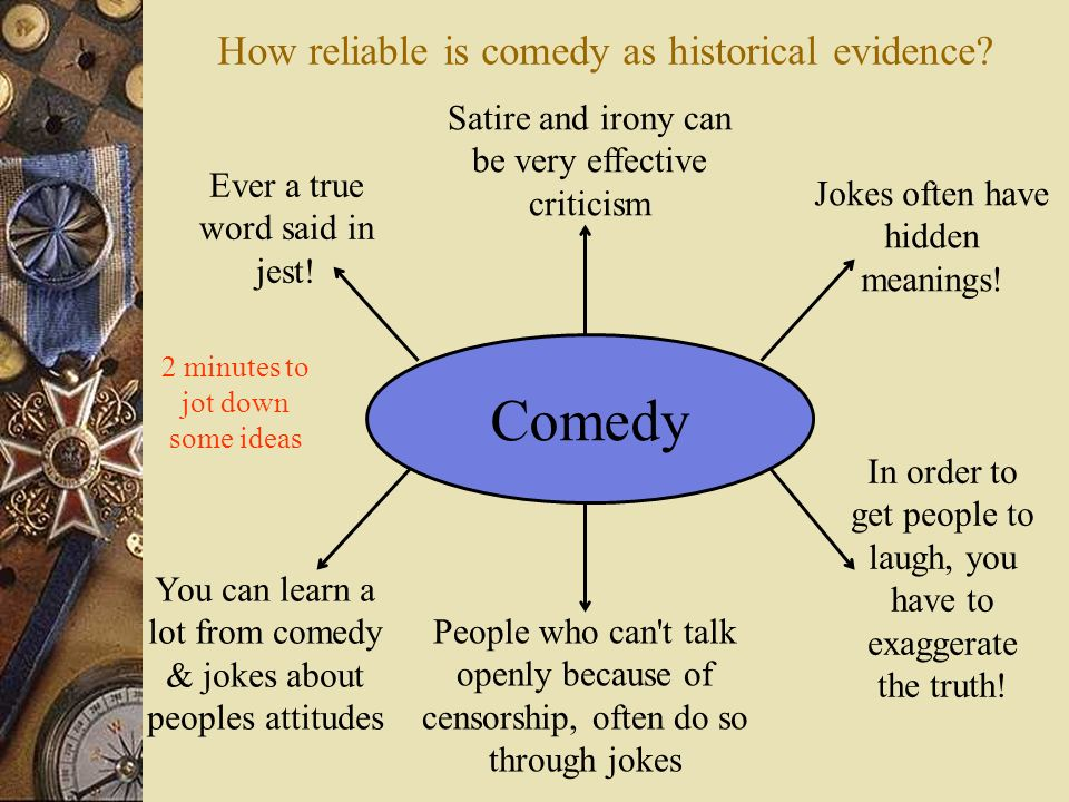How reliable is comedy as historical evidence