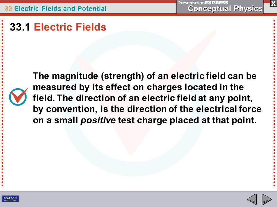 33.1 Electric Fields