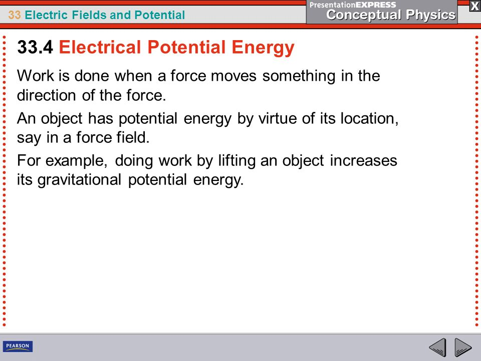 33.4 Electrical Potential Energy