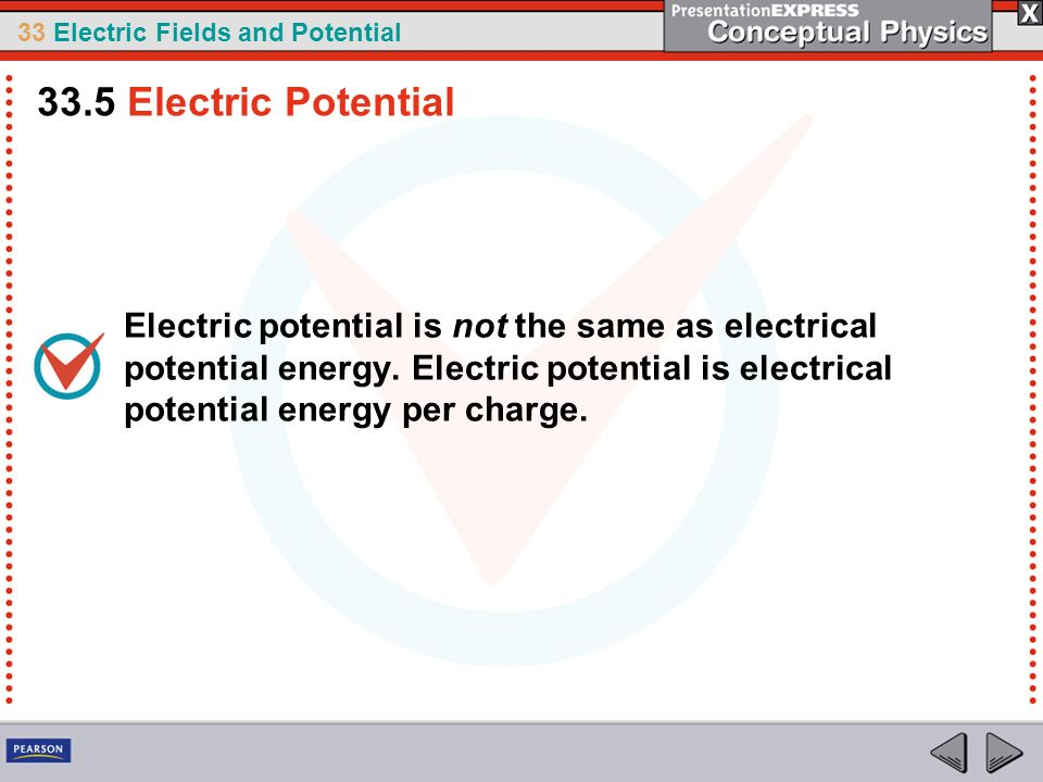 33.5 Electric Potential