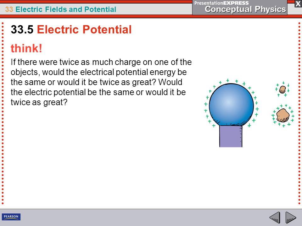 33.5 Electric Potential think!