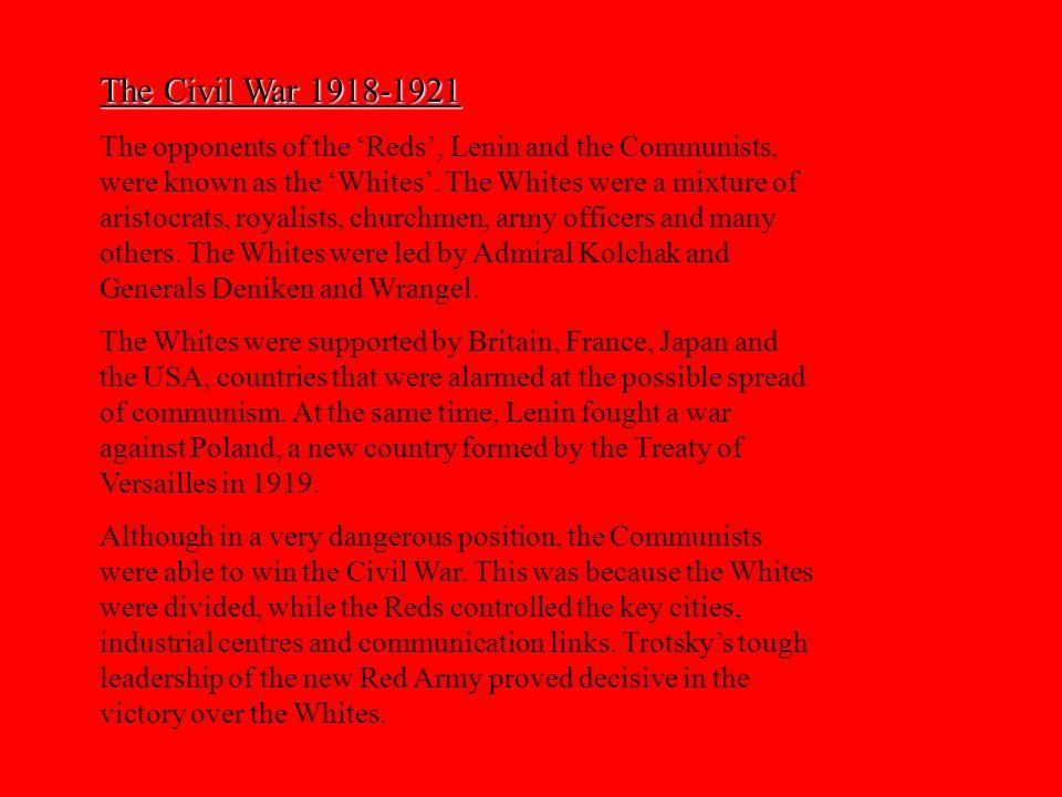 The Civil War 1918-1921