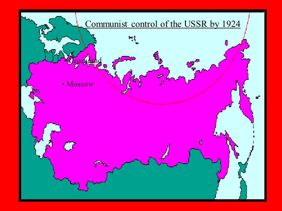 Communist control of the USSR by 1924