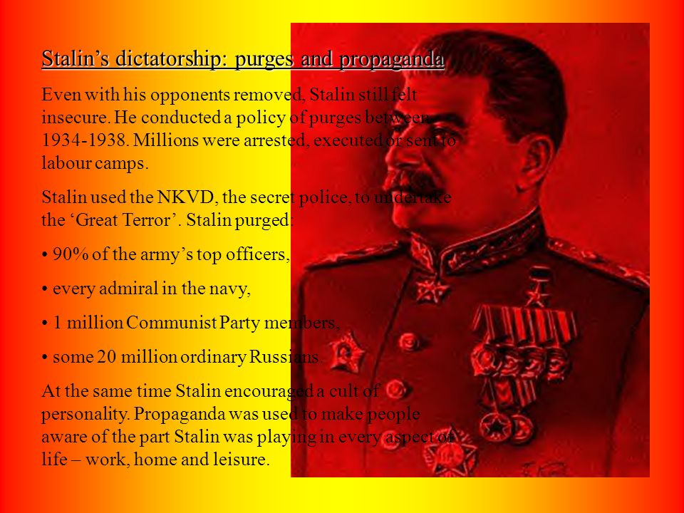 Stalin's dictatorship: purges and propaganda