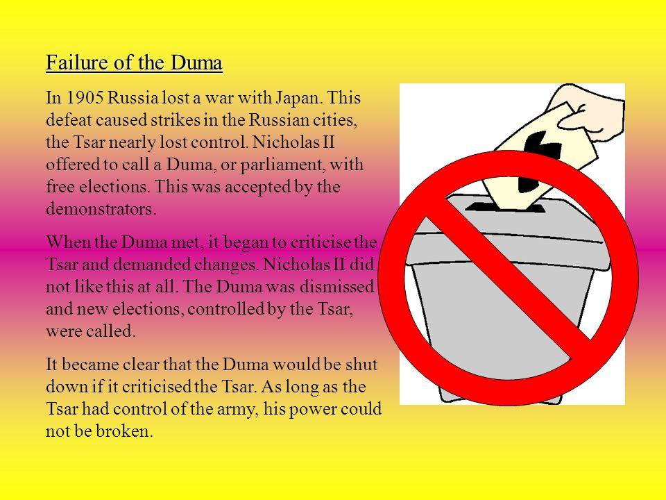 Failure of the Duma