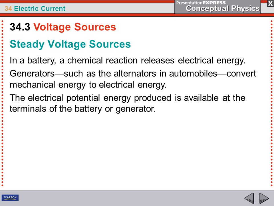 Steady Voltage Sources