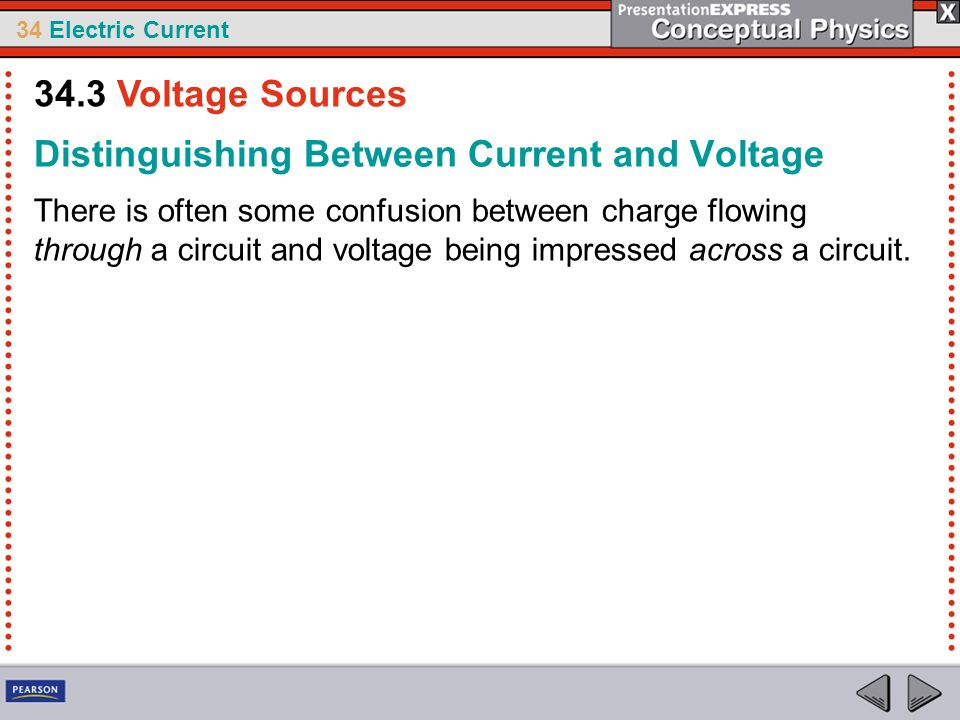Distinguishing Between Current and Voltage