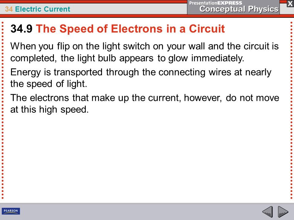 34.9 The Speed of Electrons in a Circuit