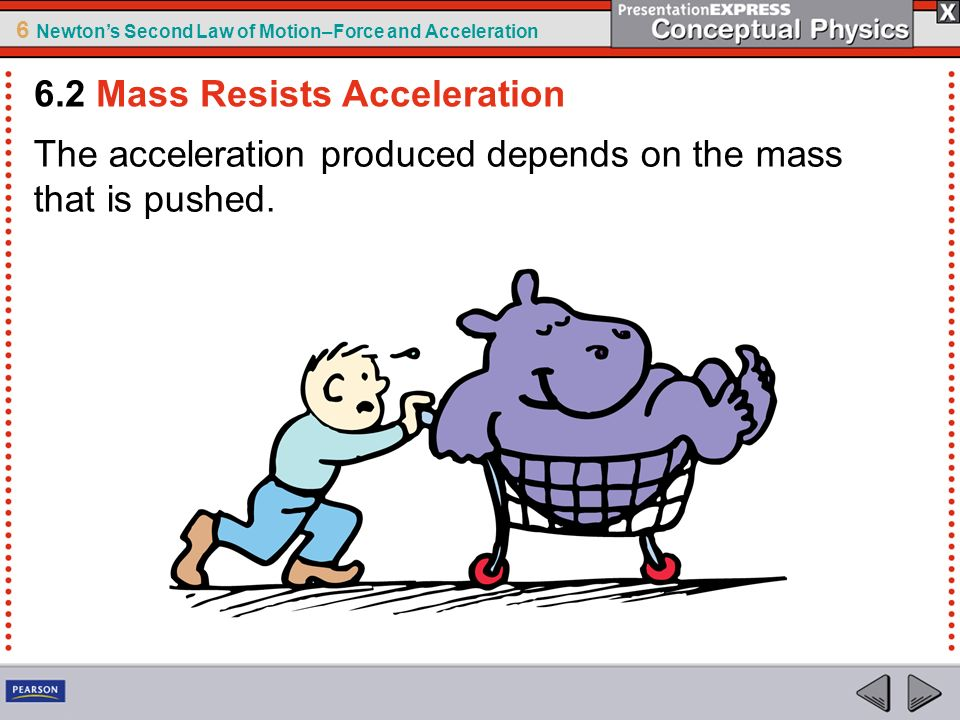 6.2 Mass Resists Acceleration