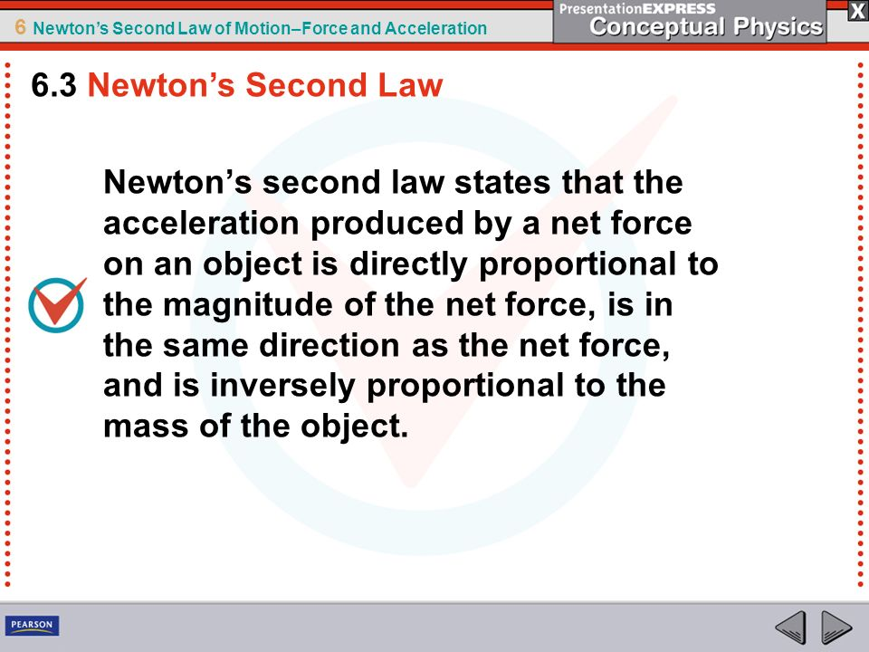 6.3 Newton's Second Law
