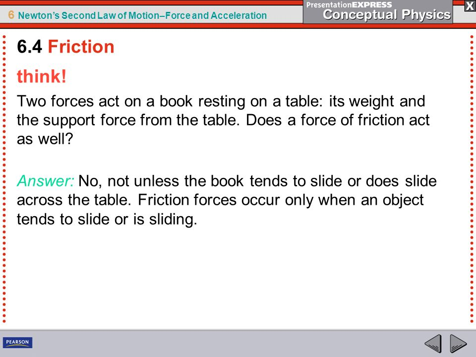 6.4 Friction think!