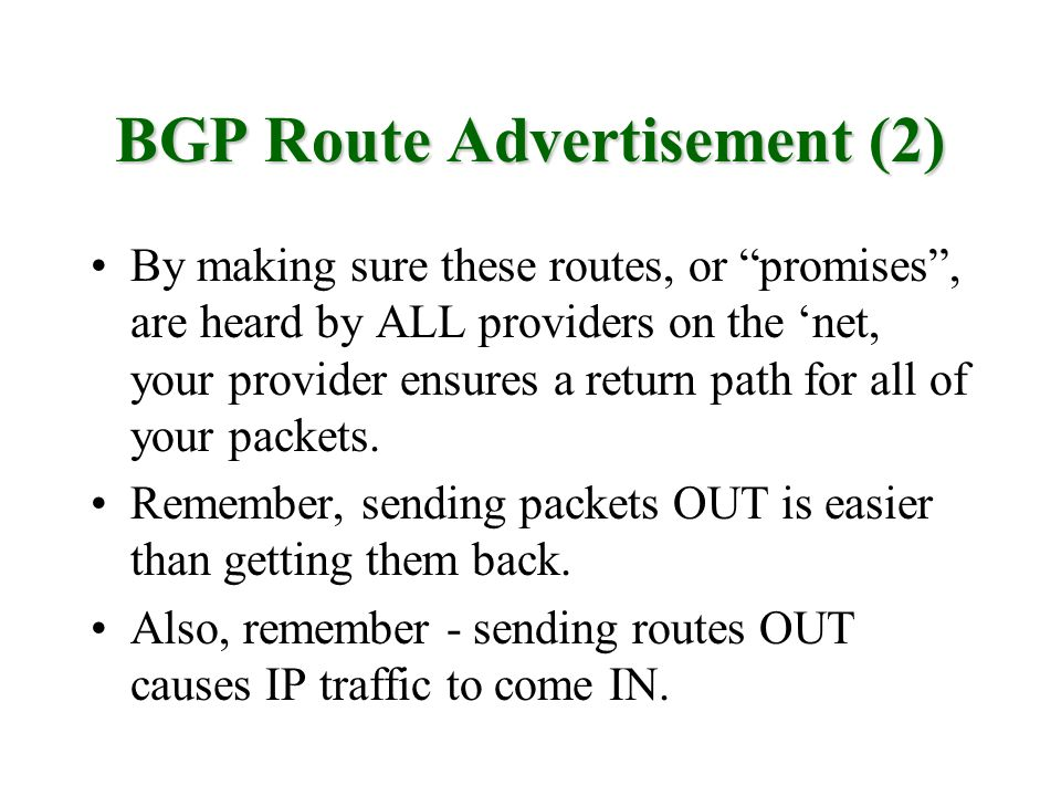BGP Route Advertisement (2)