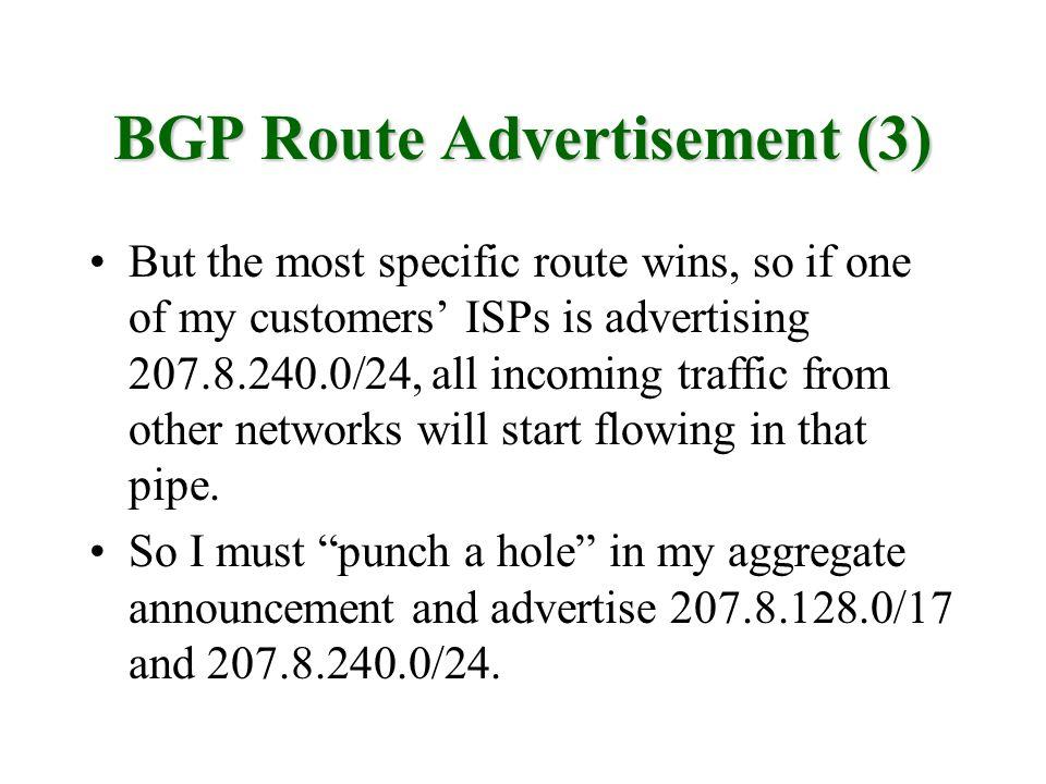 BGP Route Advertisement (3)