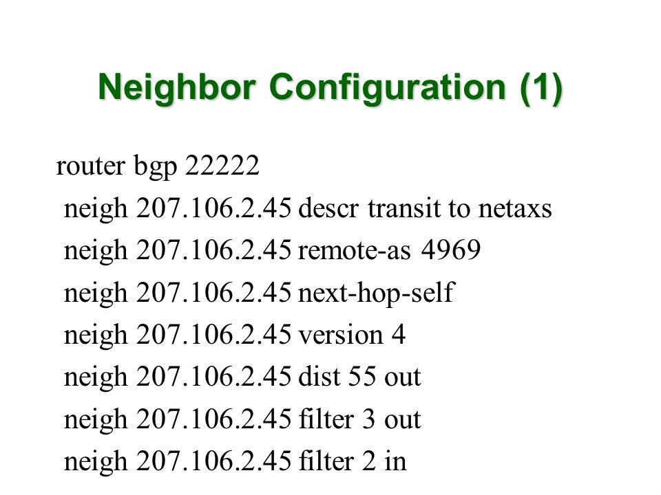 Neighbor Configuration (1)