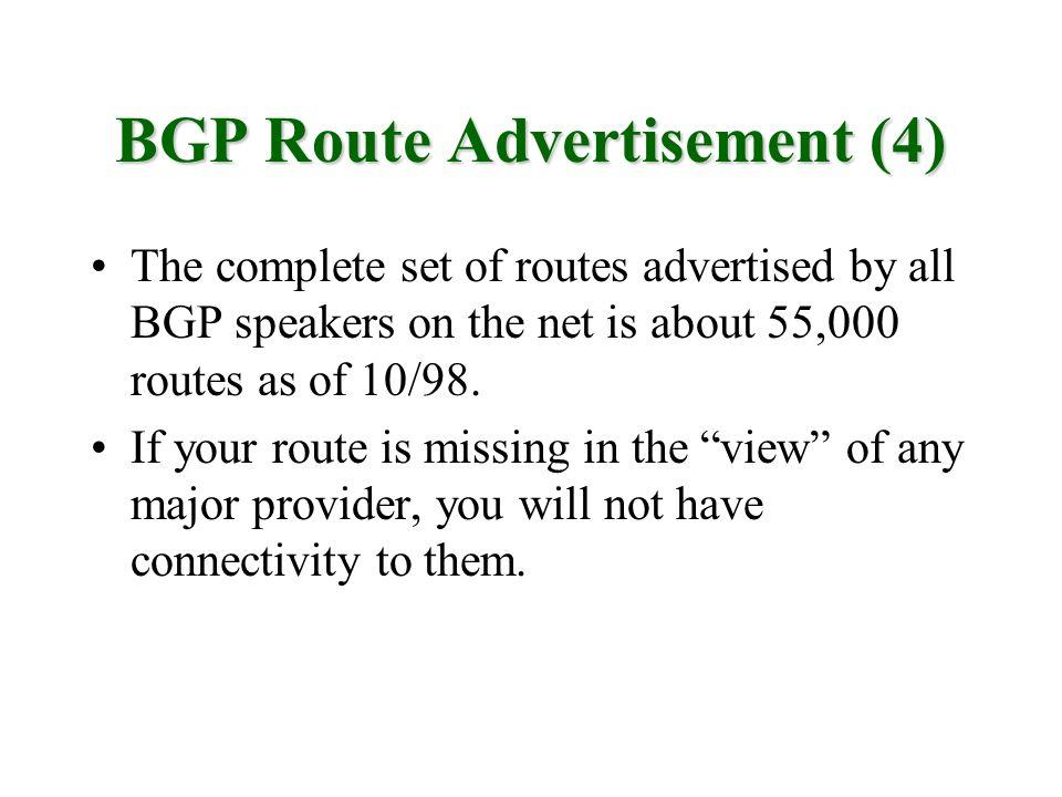 BGP Route Advertisement (4)
