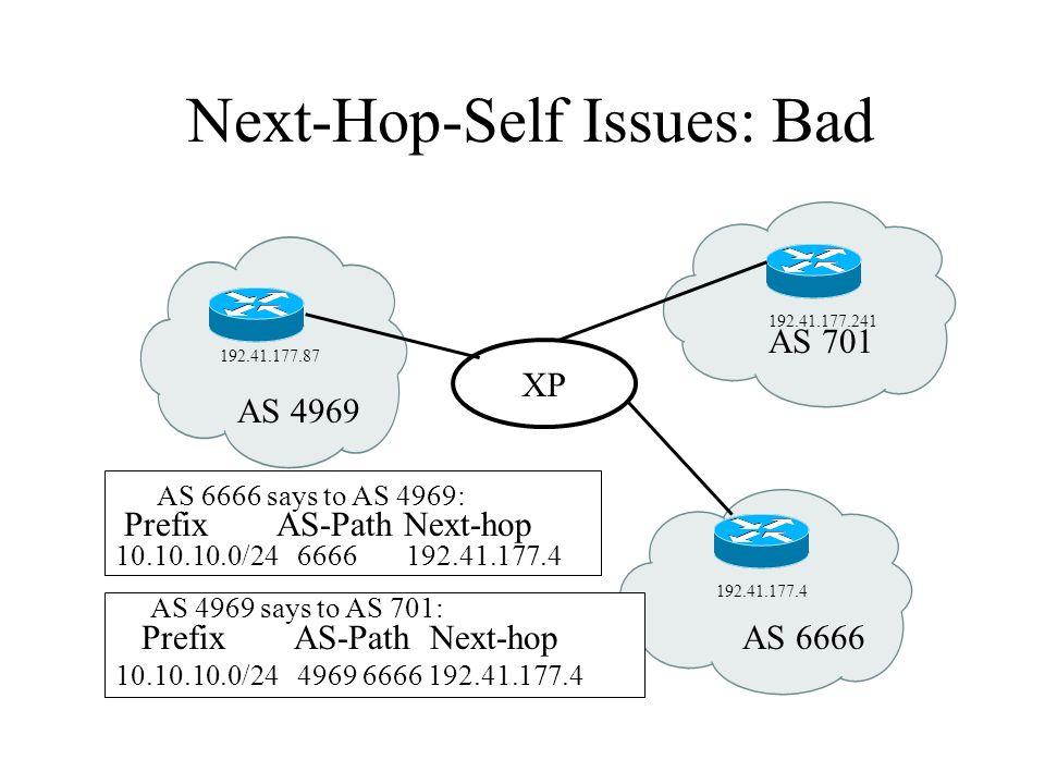 Next-Hop-Self Issues: Bad