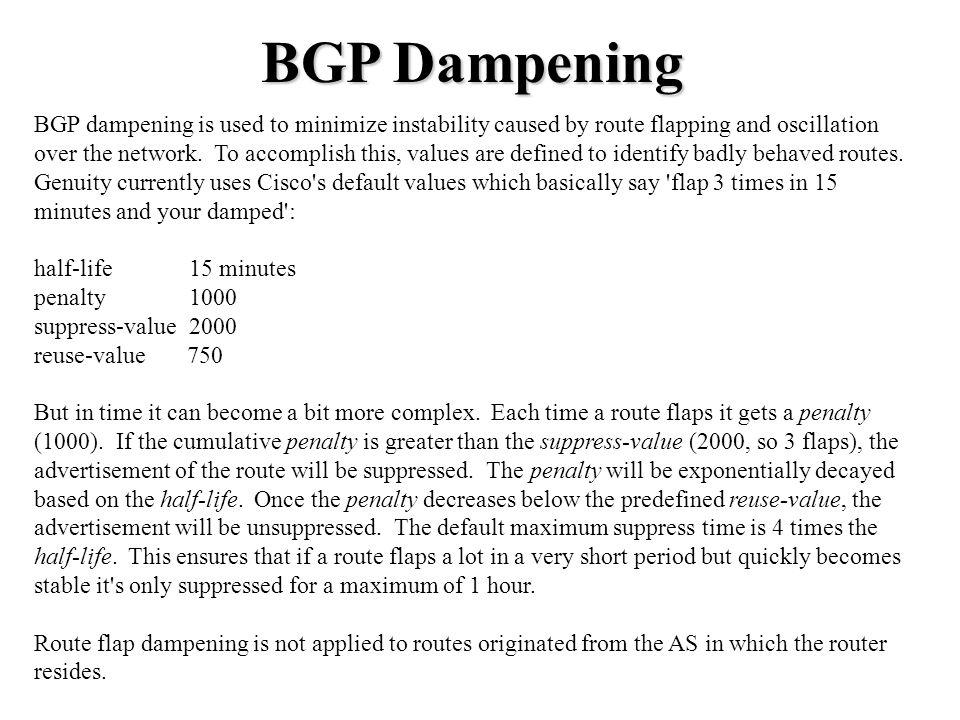 BGP Dampening