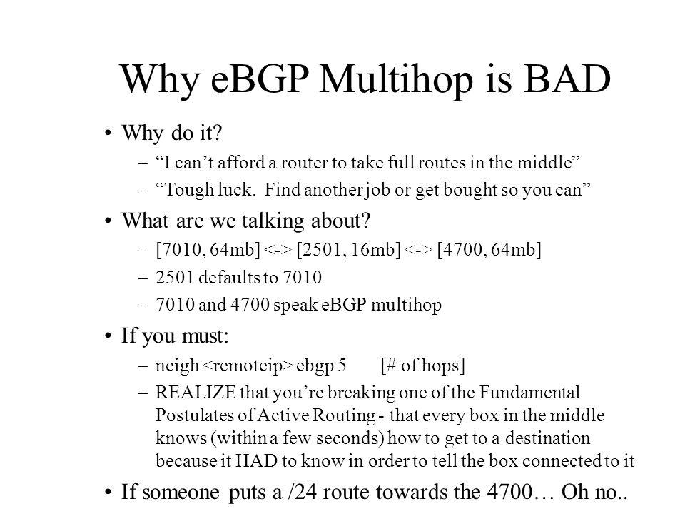 Why eBGP Multihop is BAD