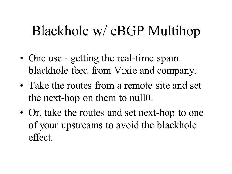 Blackhole w/ eBGP Multihop