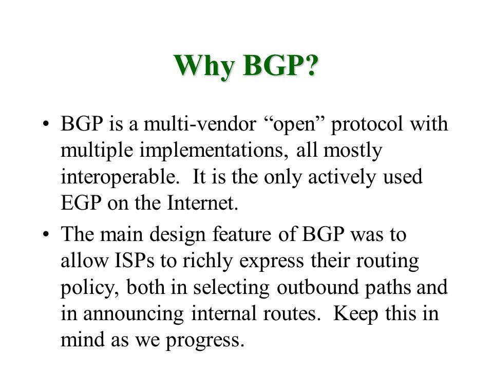 Why BGP
