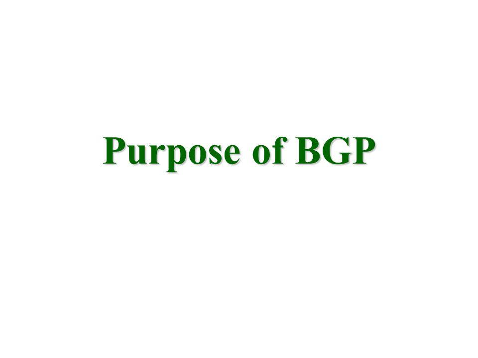 Purpose of BGP