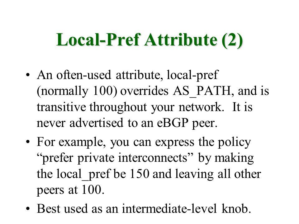 Local-Pref Attribute (2)