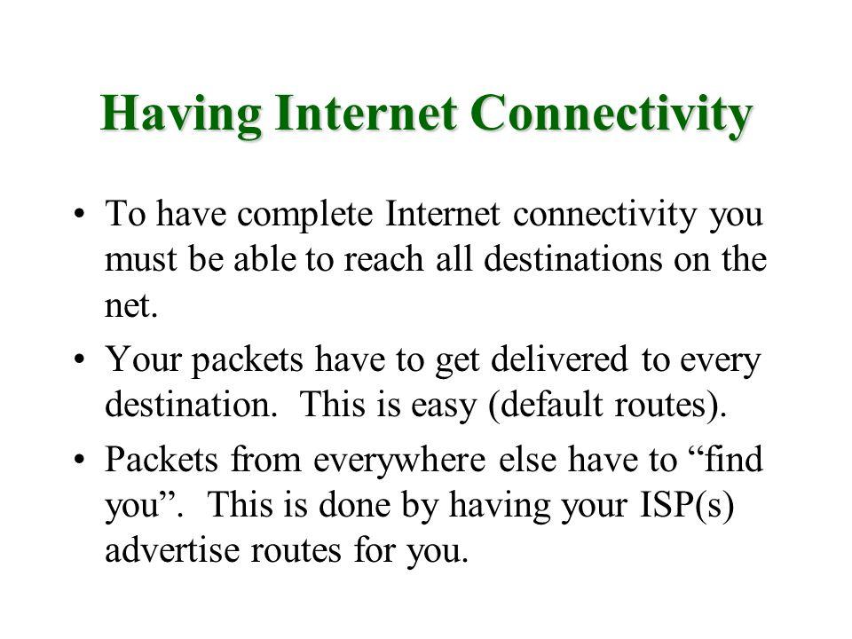 Having Internet Connectivity