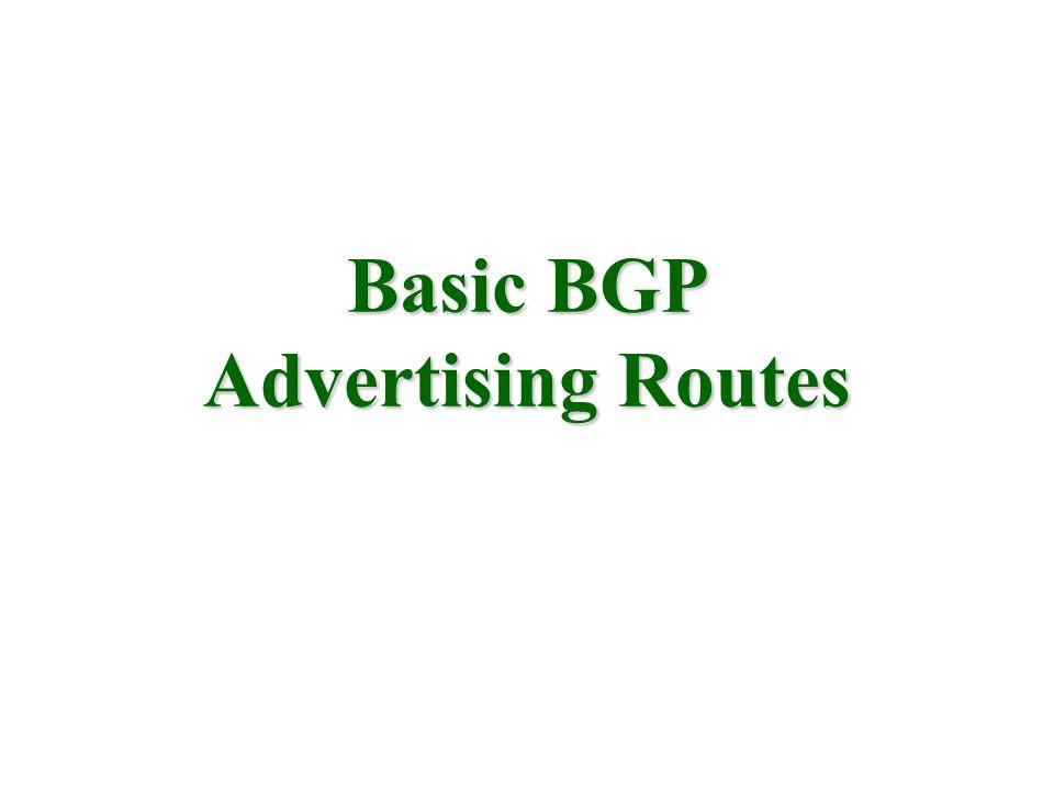 Basic BGP Advertising Routes