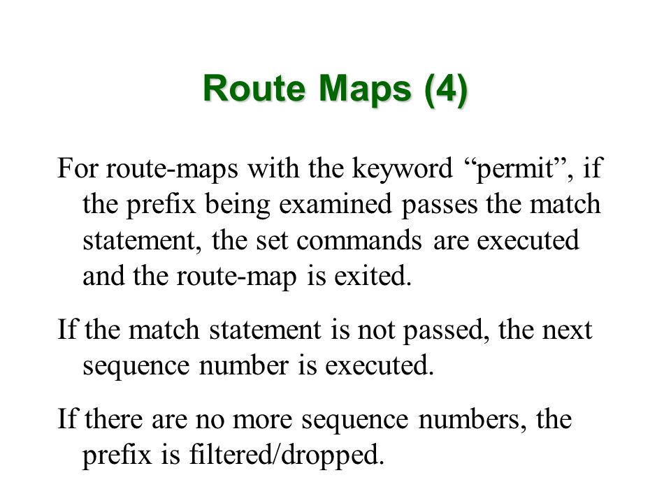 Route Maps (4)