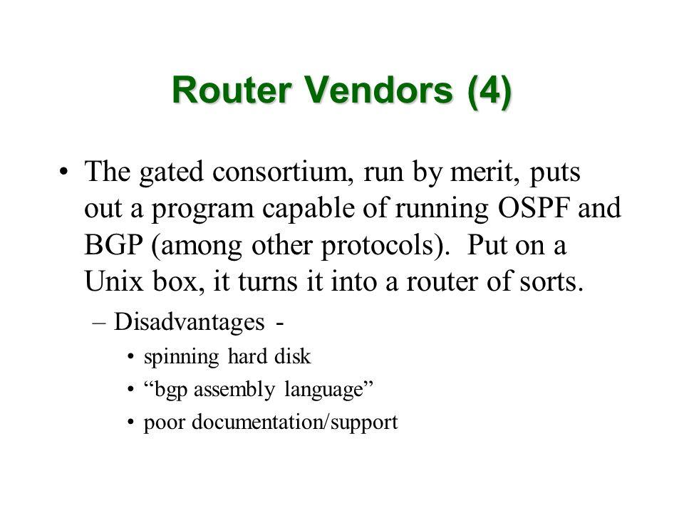 Router Vendors (4)