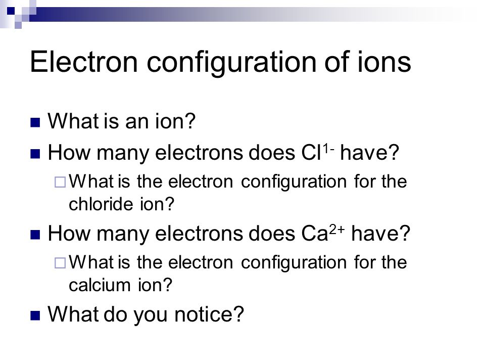 how to write electron configuration for ions