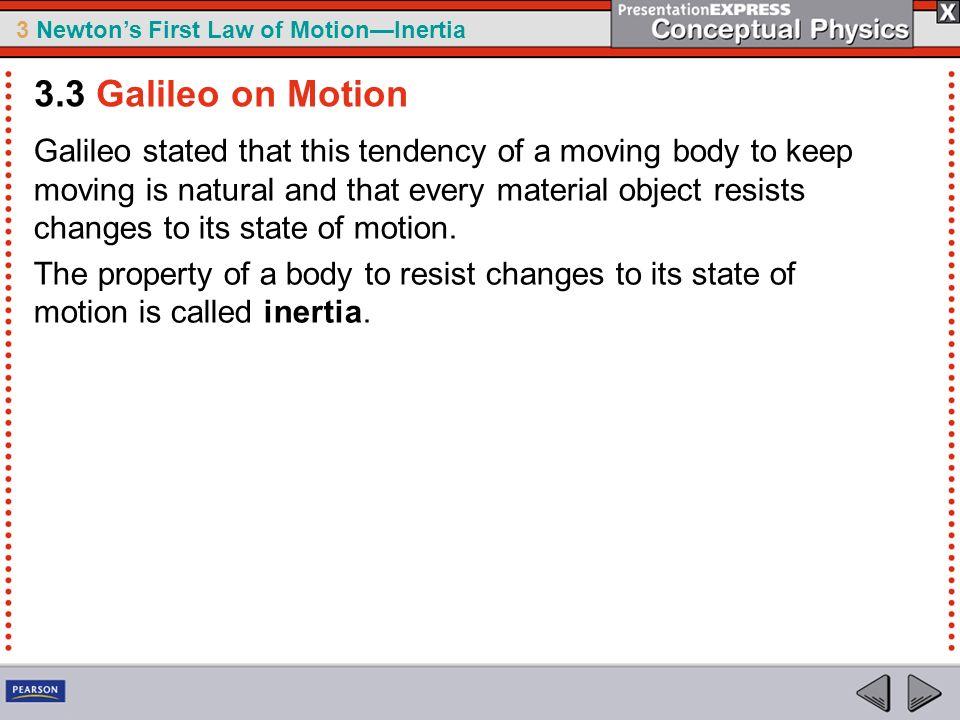 3.3 Galileo on Motion