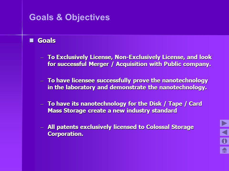 Goals & Objectives Goals