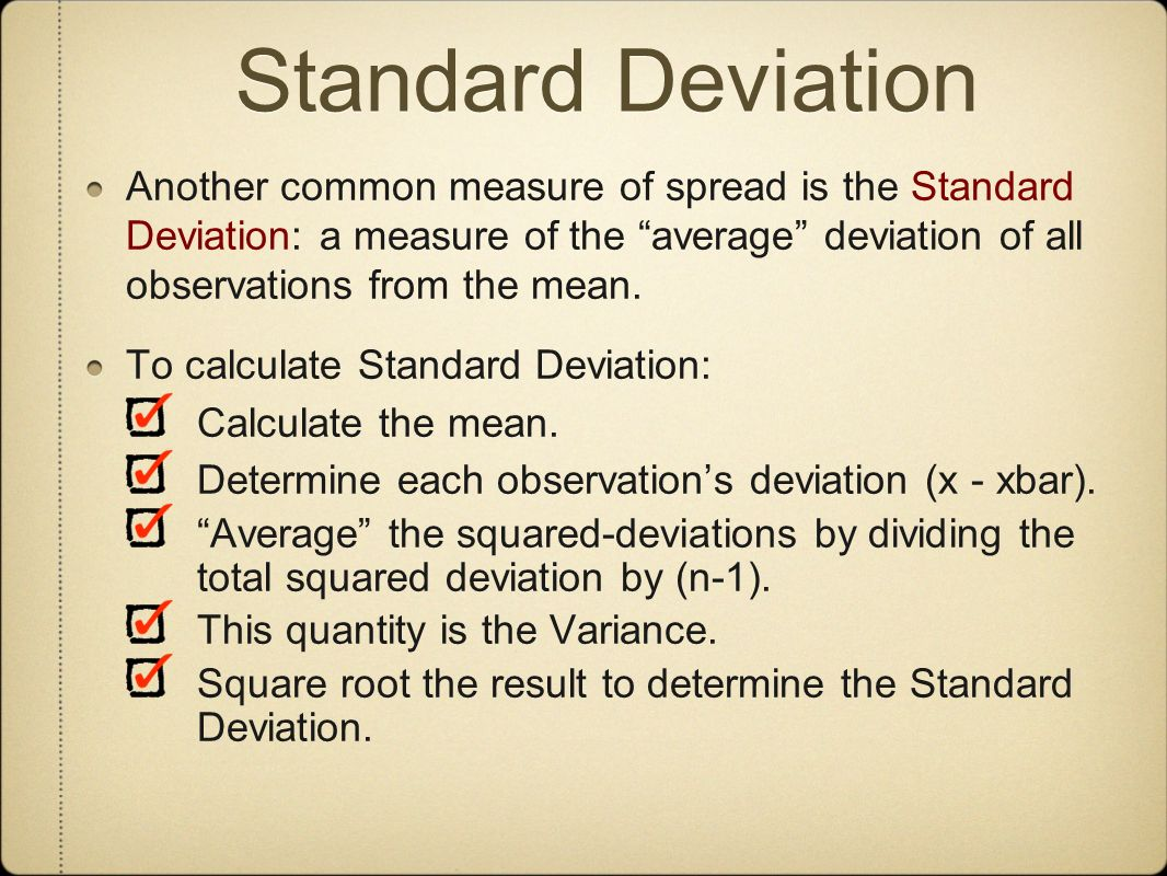 33 Standard Deviation 11 Displaying Distributions With Graphs Ppt Download  How To Calculate Variance With