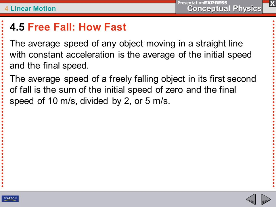 4.5 Free Fall: How Fast